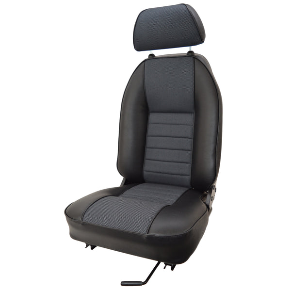 MINI VINYL SUFFOLK RECLINING SEAT- RH