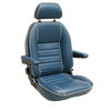 T4 SUFFOLK CAPTAIN SEAT (LH) WITH INCA CLOTH CENTRES - TO FIT BENCH SEAT