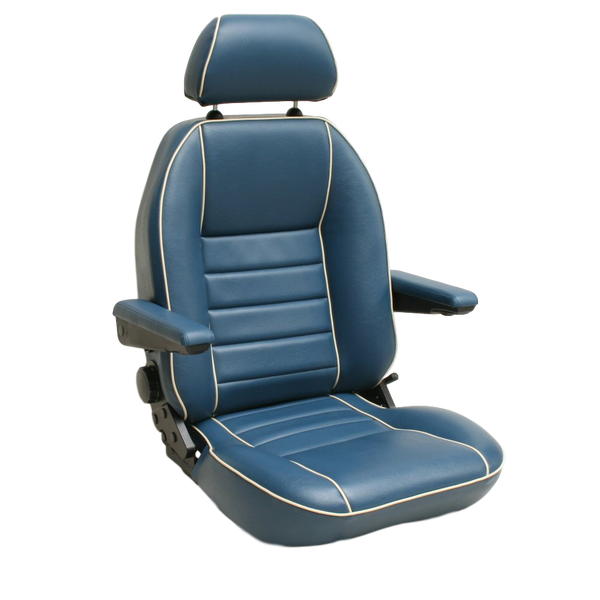 T4 SUFFOLK CAPTAIN SEAT (LH) WITH INCA CLOTH CENTRES - TO FIT SINGLE SEAT