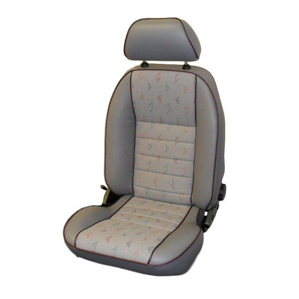 T4 SUFFOLK RECLINING SEAT (LH) WITH INCA CLOTH CENTRES - TO FIT SINGLE SEAT