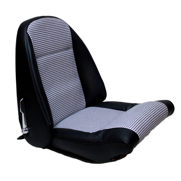 SEAT KIT INCL.HEADREST COVERS-HOUNDSTOOTH-CAR SET