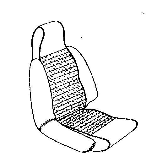 GT6 MK.II SEAT COVER KIT-USA ONLY- HIGH BACK-1969 ONLY
