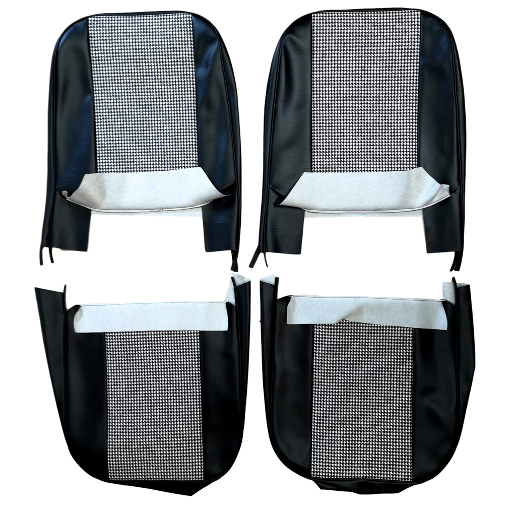 MINI CITY HOUNDSTOOTH CLOTH FRONT SEAT COVERS