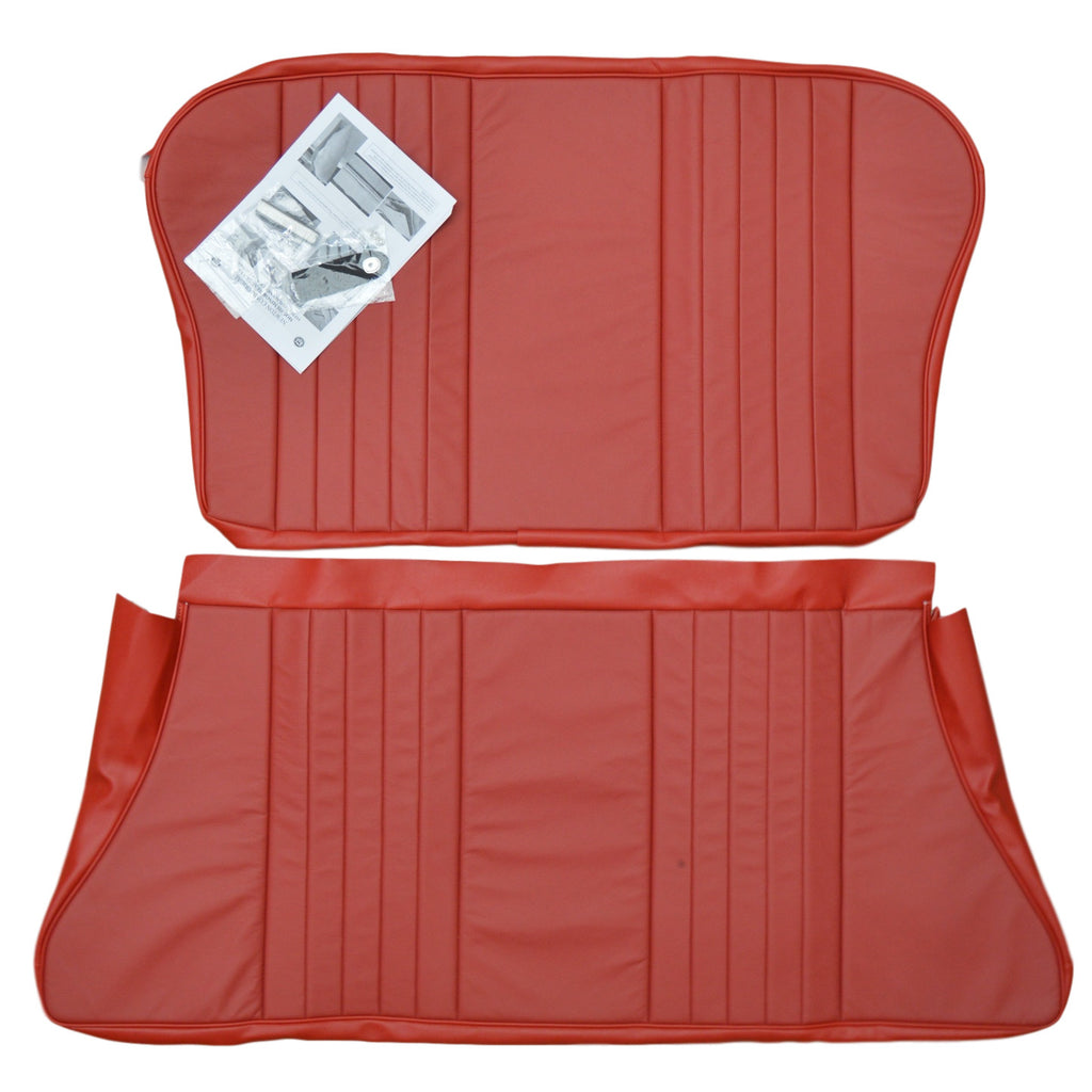 2 DOOR REAR SEAT COVER KIT-LEATHER-1956-59
