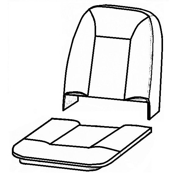 MKIII RILEY ELF/WOLSELEY HORNET FRONT SEAT FOAM KIT
