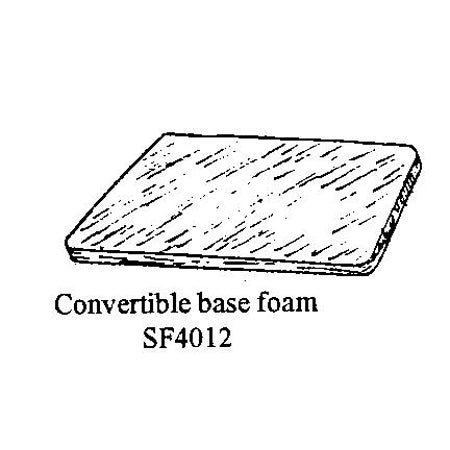 CONVERTIBLE REAR SEAT BASE FOAM CUSHION