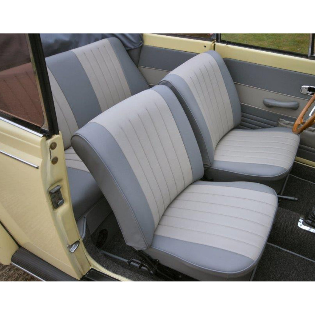BEETLE CABRIO 56-64 TWOTONE FRONT & REAR SEAT COVERS (2 POINT)
