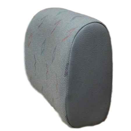 TYPE 4 HEADREST COVER IN ORIGINAL CLOTH-LATE TYPE