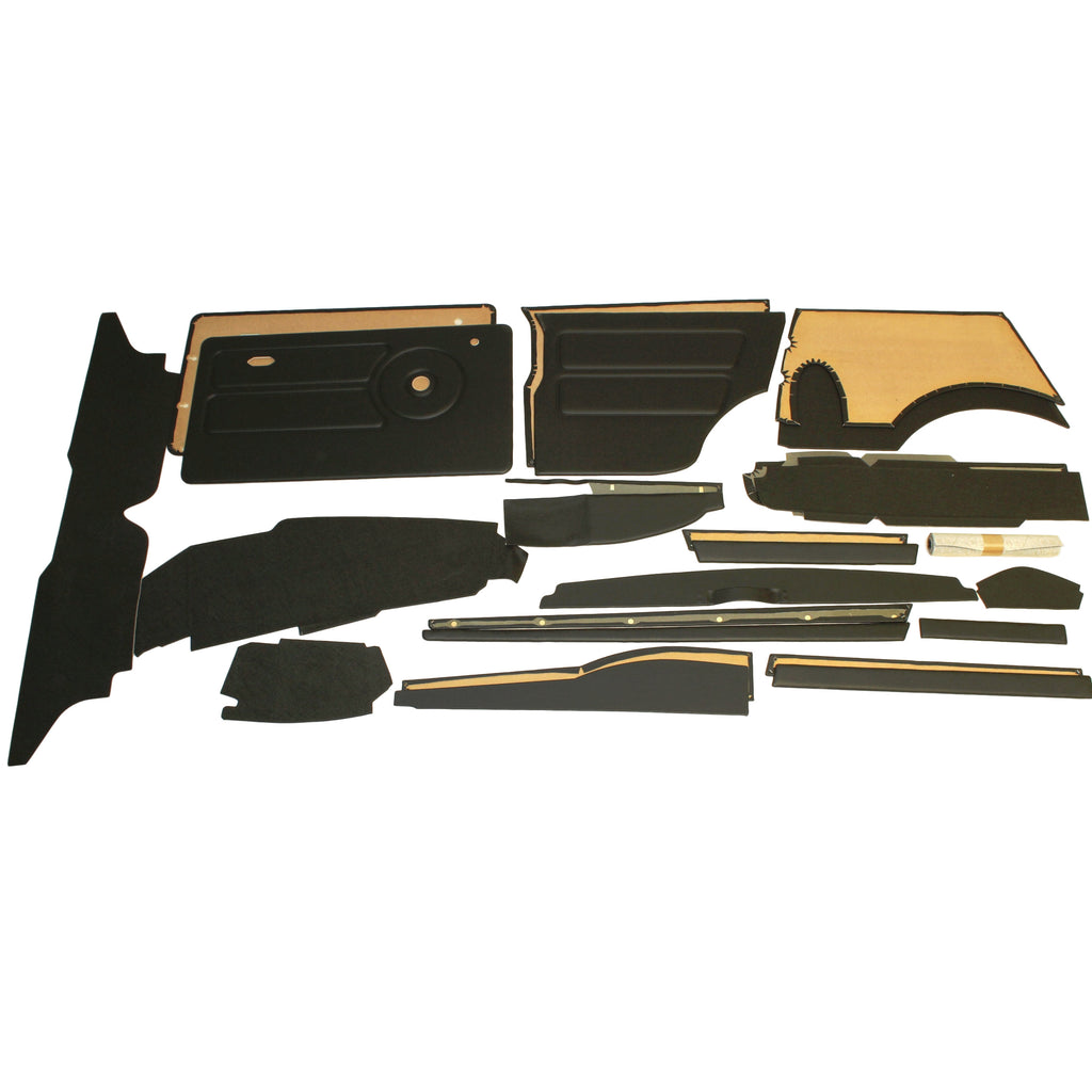 COMPLETE INTERIOR PANEL KIT - OFFSET SPEEDO - RHD 1976-80