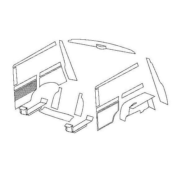 EARLY MKI TRAVELLER REAR TRIM KIT FOR CARS WITH INTERNAL