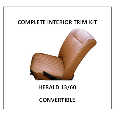 HERALD 13/60 CONVERTIBLE COMPLETE INTERIOR TRIM KIT