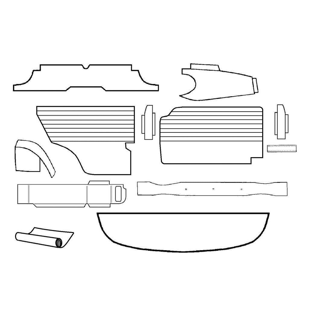 INNOCENTI MKI & II COMPLETE INTERIOR TRIM PANEL KIT