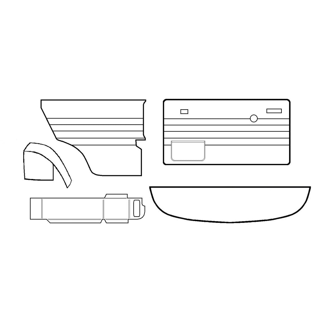INNOCENTI COMPLETE INTERIOR TRIM PANEL KIT (QUARTER LIGHT)