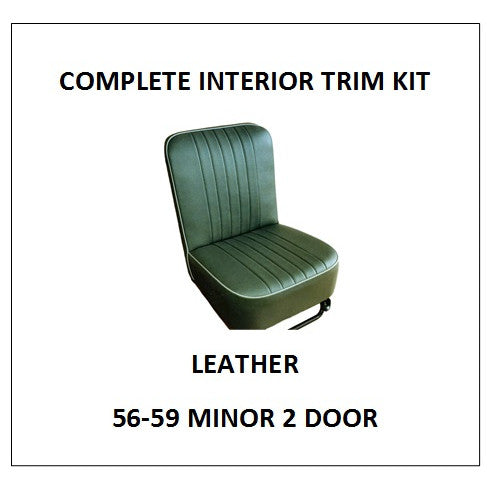MINOR 1000 56-59 2 DOOR LEATHER COMPLETE INTERIOR TRIM KIT