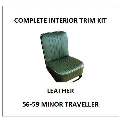 MINOR 1000 56-59 TRAVELLER LEATHER COMPLETE INTERIOR TRIM KIT