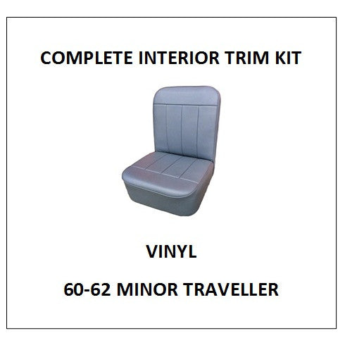 MINOR 60-62 TRAVELLER VINYL COMPLETE INTERIOR TRIM KIT