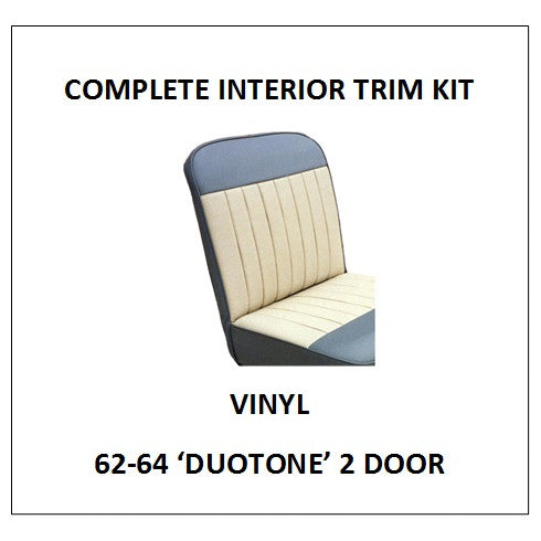 MINOR 62-64 'DUOTONE' 2 DOOR VINYL COMPLETE INTERIOR TRIM KIT