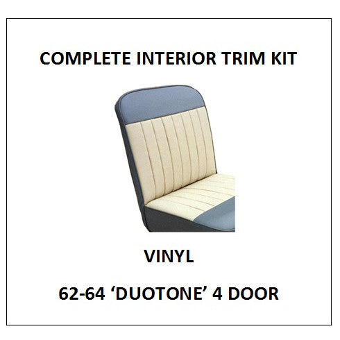 MINOR 62-64 'DUOTONE' 4 DOOR VINYL COMPLETE INTERIOR TRIM KIT