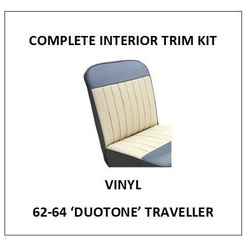 MINOR 62-64 'DUOTONE' TRAVELLER VINYL COMPLETE INTERIOR TRIM KIT