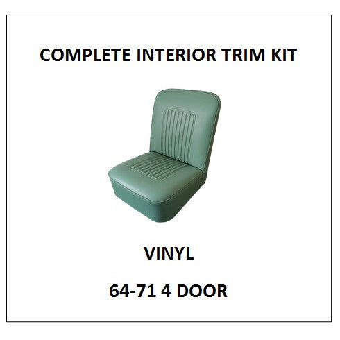 MINOR 64-71 4 DOOR VINYL COMPLETE INTERIOR TRIM KIT