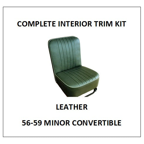 MINOR 1000 56-59 CONVERTIBLE LEATHER COMPLETE INTERIOR TRIM KIT