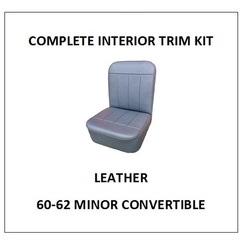 MINOR 60-62 CONVERTIBLE LEATHER COMPLETE INTERIOR TRIM KIT