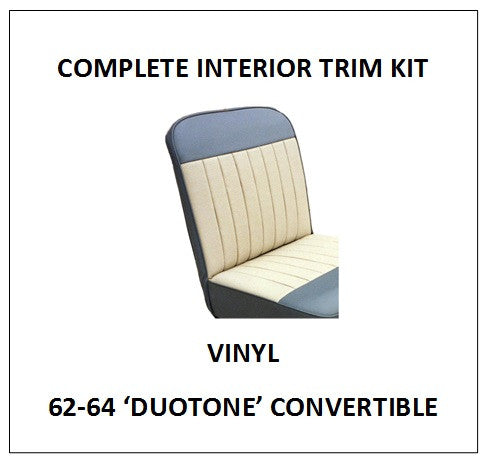 MINOR 62-64 'DUOTONE' CONVERTIBLE VINYL COMPLETE INTERIOR TRIM KIT
