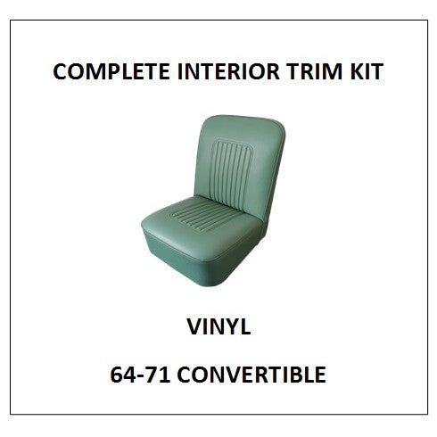 MINOR 64-71 CONVERTIBLE VINYL COMPLETE INTERIOR TRIM KIT