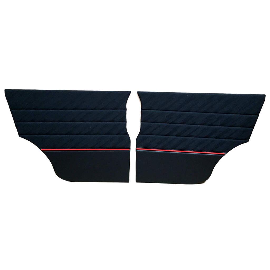 MINI COOPER PAIR OF LIGHTNING CLOTH REAR QUARTER PANELS