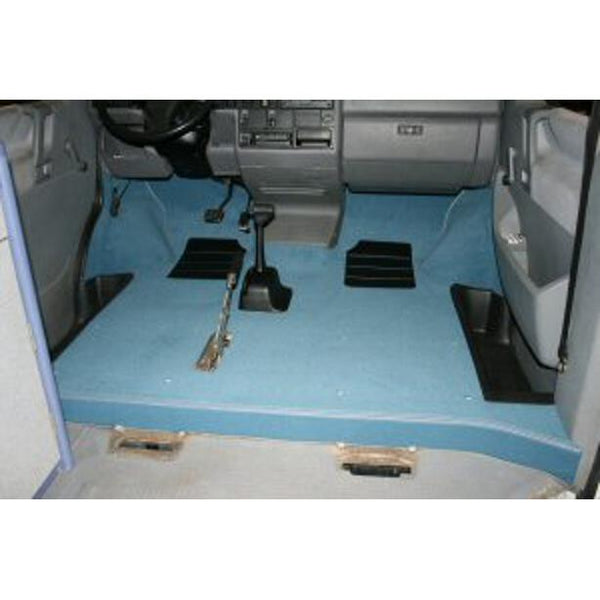 VW T4 RHD FULL FRONT CAB CARPET SET...WALK THRU MODELS