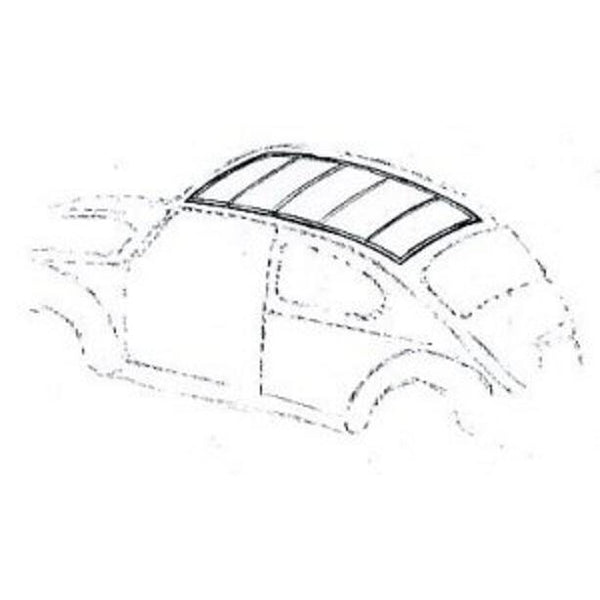 VW BEETLE STANDARD HEADLINING KIT - 4 HOOP WITH THE SMALLER REAR WINDOW 1956-71