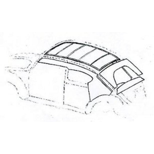 VW BEETLE DELUXE HEADLINING KIT - 4 HOOP LARGE WINDOW