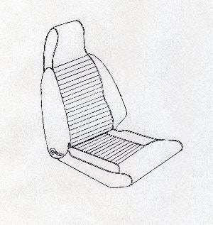 SPITFIRE MK.3 HIGH BACK SEAT KIT-USA CARS 1969-70