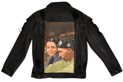 Oversized The Poetic Hand Painted Canvas Denim Jacket