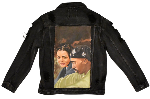 The Poetic Hand Painted Canvas Denim Jacket