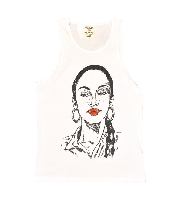 Miss Adu White Tank Top