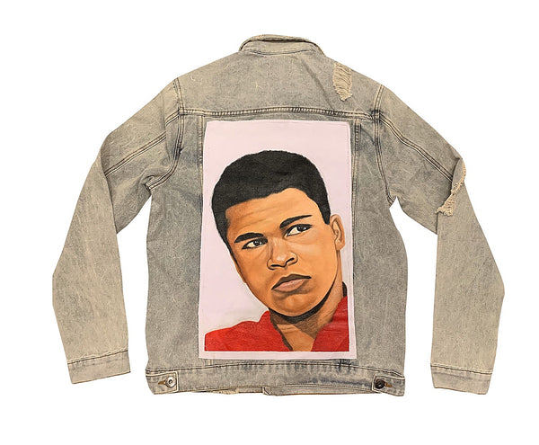 The Greatest Hand Painted Canvas denim Jacket