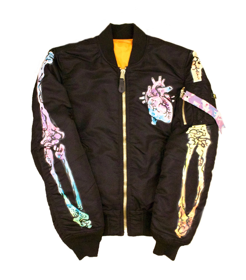 Candy Bones Hand Painted Bomber