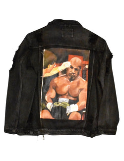 The knock Out Painted Canvas  Jacket