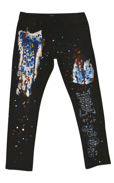 Original Hand Painted Denim Jeans