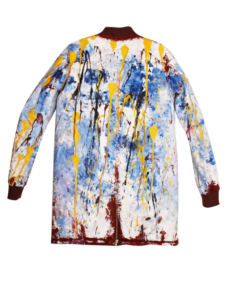 The Hand Painted Drip Long Bomber