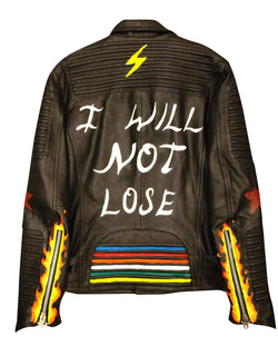 IWNL Hand Painted Leather Jacket