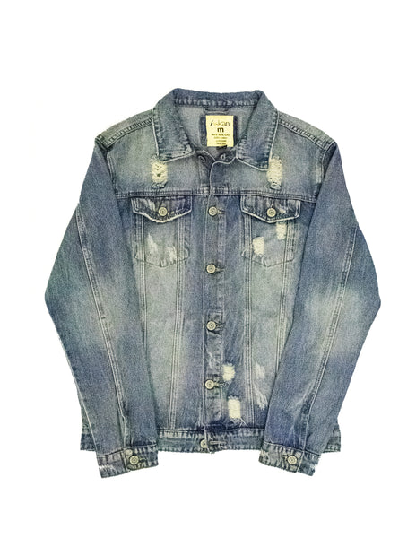 Oversized Miss Adu Hand Painted Canvas Denim Jacket