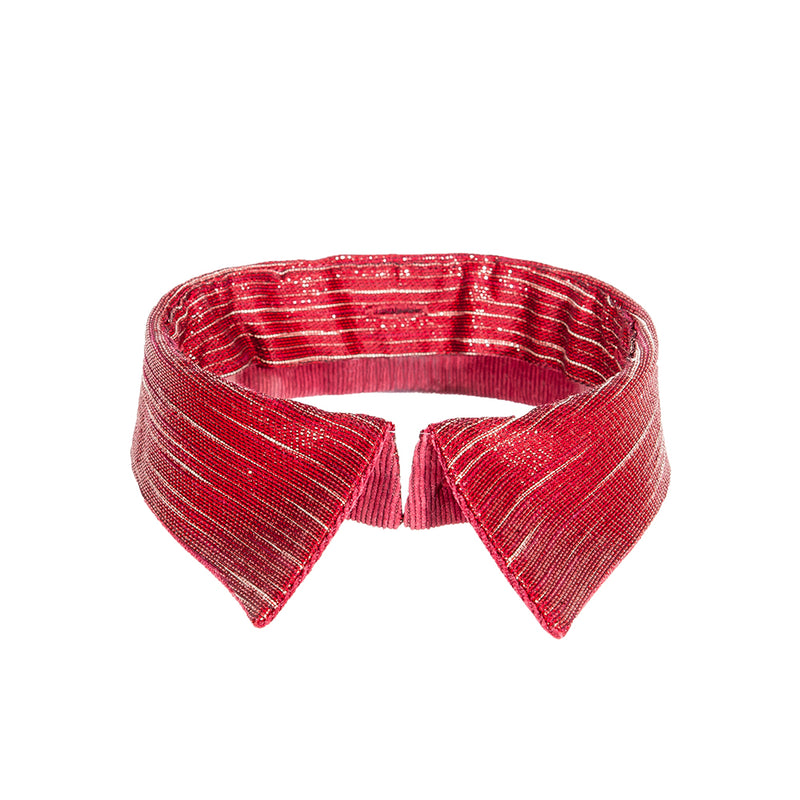 Classic collar burgundy red