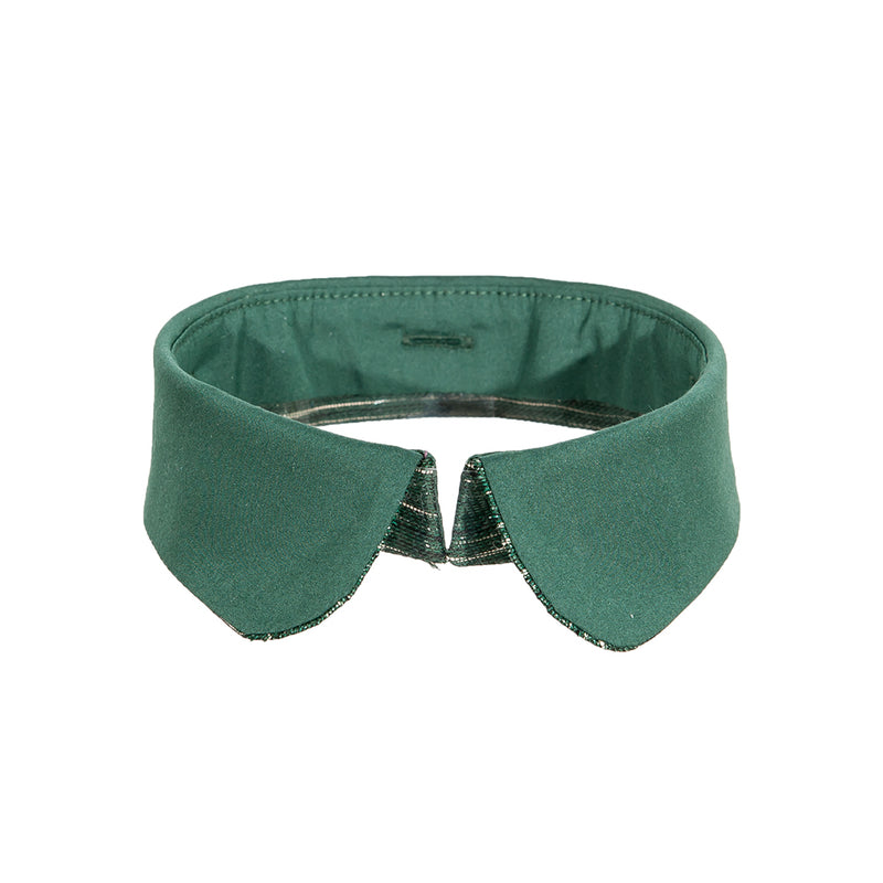 Peter pan collar green