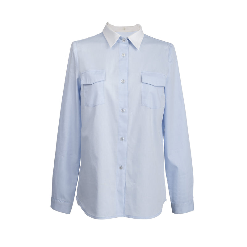 Casual blouse light blue