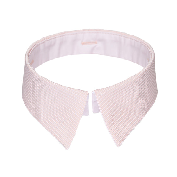 Classic collar pink stripes