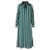 Polly Jean Dress green stripe