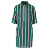 Twiggy dress green stripe