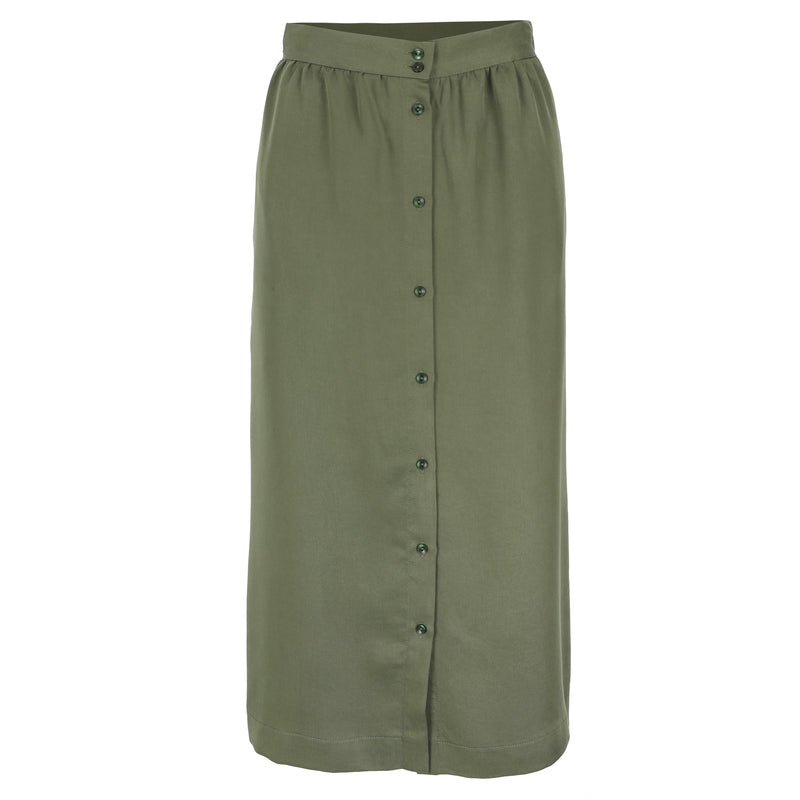 Elba skirt khaki tencel